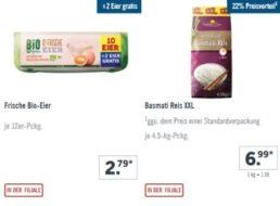 Lidl: XXL-Woche mit 4,5 Kilo Basmati-Reis für 6,99 Euro