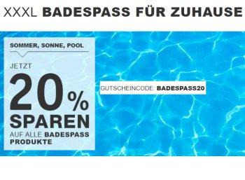 XXXL: Pool-Rabatt von 20 Prozent auf bereits reduzierte Produkte