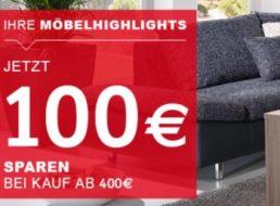 XXXL-Shop: 100 Euro Möbelrabatt ab 400 Euro Warenwert