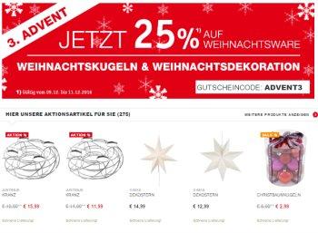 XXXL: Weihnachtsdeko mit 25 Prozent Rabatt, 100 Christbaumkugeln für 7,50 Euro
