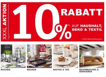 XXXLutz: 10 Prozent Rabatt und Gratis-Versand für Haushaltswaren