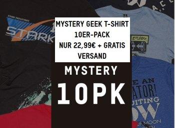 Zavvi: Zehnerpack Geek-T-Shirts für 22,99 Euro frei Haus