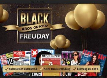 Black Friday: 6 Zeitschriften-Kurzabos mit automatischem Ende