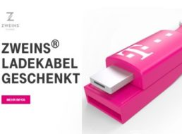 Gratis: Zweins-Ladekabel für Telekom-Kunden geschenkt